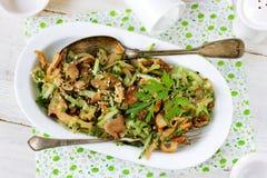 Mushroom cucumber salad Royalty Free Stock Photo