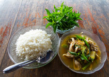 Mushroom curry Stock Image
