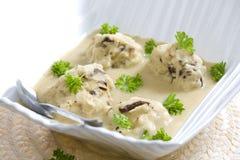 Mushroom dumplings Stock Photos