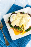 Mushroom Eggs Benedict Royalty Free Stock Images