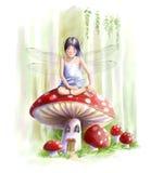 Mushroom fairy Royalty Free Stock Photography