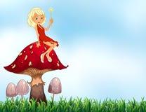 Mushroom and fairy Royalty Free Stock Image