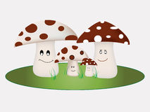 Mushroom Family. Concept of a happy Family using mushrooms Stock Images