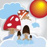 Mushroom family Stock Images