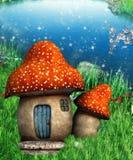 Mushroom fantasy house Stock Photos