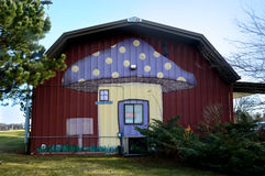 Mushroom Farm. A Mushroom Farm store with a mushroom painted on the side of the barn. This is located in Twin Lakes, Wisconsin which is located in Walworth stock images