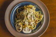 Mushroom Fetuccine Alfredo Royalty Free Stock Image