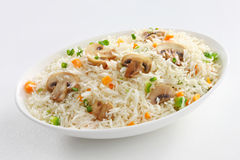 Mushroom fried rice Royalty Free Stock Photography