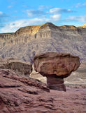 Mushroom in geological Timna park, Israel Royalty Free Stock Images