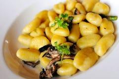 Mushroom Gnocchi cuisine Stock Photo