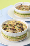 Mushroom gratin with eggs and cheese Stock Images