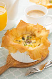 Mushroom and ham quiche Royalty Free Stock Photography