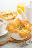 Mushroom and ham quiche Royalty Free Stock Image