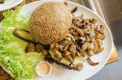 Mushroom Hamburger Stock Photos