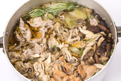Mushroom hot pot Royalty Free Stock Photography