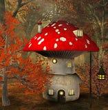 Mushroom house. In an enchanted forest. Digital illustration Vector Illustration