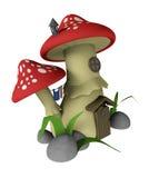 Mushroom house. Illustration of a mushroom-shaped house Stock Illustration