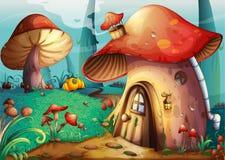 Mushroom house Royalty Free Stock Images