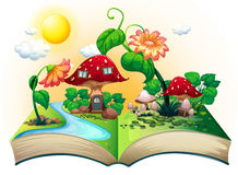 Mushroom house book Stock Images