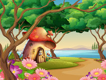 Free Mushroom House By The Lake Stock Images - 78730384