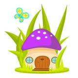 Mushroom house cartoon vector illustration. Royalty Free Stock Image