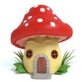 Mushroom House. 3d illustration of a mushroom house Stock Photos