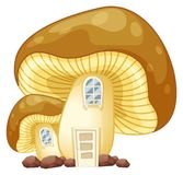 Mushroom house with door and windows Stock Photo