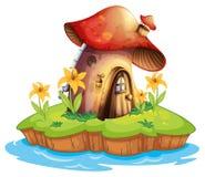 A mushroom house Stock Photo
