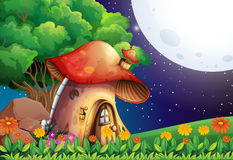 A mushroom house Stock Images
