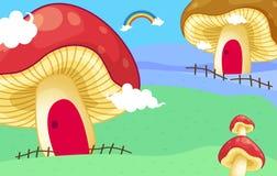Mushroom houses Stock Photo
