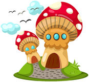 Mushroom houses Stock Images