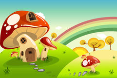 Mushroom houses Royalty Free Stock Image