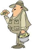 Mushroom hunter Royalty Free Stock Images