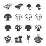 Mushroom icon Stock Photos