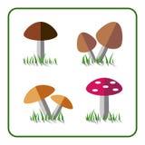 Mushroom icons set 1 Royalty Free Stock Photos