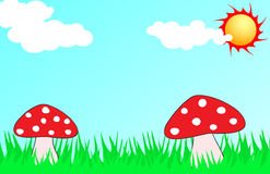 Mushroom illustration Stock Photo
