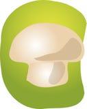 Mushroom illustration. Sketch of a mushroom. Hand-drawn lineart look illustration Stock Photo