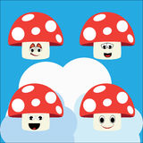 Mushroom illustration Royalty Free Stock Images