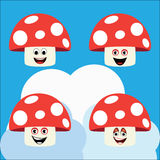 Mushroom illustration Stock Images