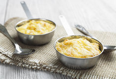 Mushroom julienne in a cocotte Royalty Free Stock Photo
