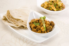 Mushroom  Korma with Rumali Roti Stock Photo