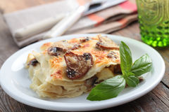 Mushroom lasagna Stock Photo