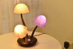 Mushroom led table lamp Royalty Free Stock Photo