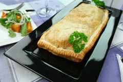 Mushroom And Leek Strudel royalty free stock photo