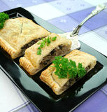 Mushroom And Leek Strudel Royalty Free Stock Images