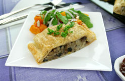 Mushroom And Leek Strudel Stock Photos