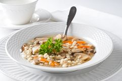 Mushroom Lentil Soup Royalty Free Stock Photography