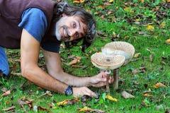 Mushroom macrolepiota procera Royalty Free Stock Photos