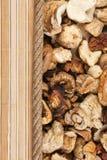 Mushroom, mat and rope for the menu Royalty Free Stock Image