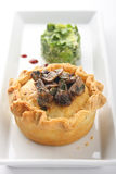 Mushroom meat pie Stock Photo